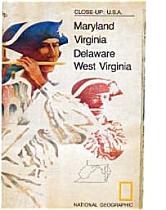 Close Up Map Md Va De Wv Oct 1976