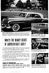 Chrysler Built Cars Beauty Secret Ad (Image1)