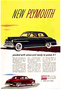 Plymouth Value Packed Automobile Ad