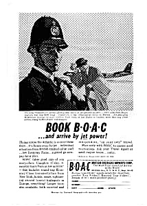 Boac Comet 4 And 707s To Europe Ad Auc125904