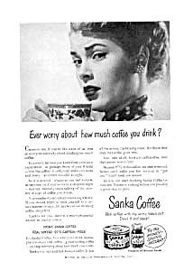Sanka Coffee Ad 1940s
