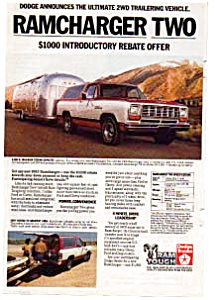 Dodge Ramcharger 2WD  Ad Mar 1983 Color (Image1)