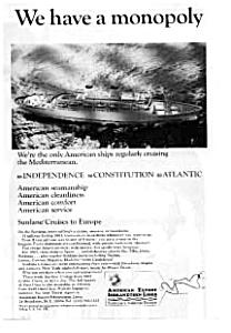 American Export Lines Mediterranean Ad (Image1)