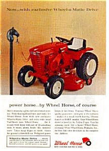 Wheel Horse Lawn Tractor Ad (Image1)