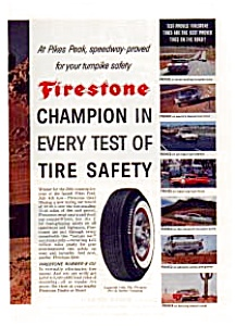Firestone  Pikes Peak Tire Safety Ad 1960 (Image1)