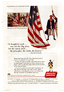 Continental Insurance American Flag  Ad auc1710 (Image1)