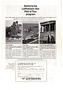 Lufthansa German Airlines Ad Mar 1964