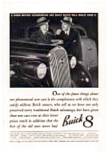 Buick 8 Of The 1930s Ad