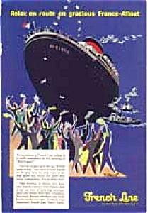 French Line Liberte Ad auc1919 Feb1957 (Image1)