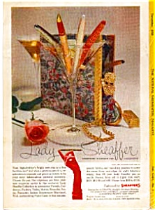 Lady Scheaffer Fountain Pens Ad Nov 1958 (Image1)