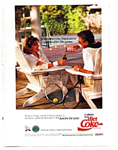 Coke Diet Coke Caffeine Free Ad Auc1930 July 1992