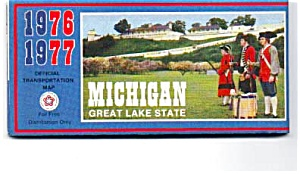 Michigan Highway Map ,1976-77