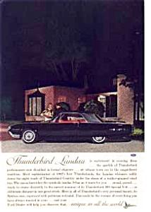 1962 Thunderbird Town Landau Ad auc3128 (Image1)