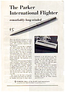 Parker International Flighter Pen Ad Dec 1961 (Image1)