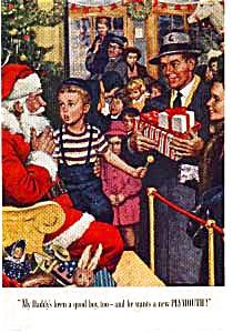 Plymouth Christmas Santa Ad auc3132 1940s (Image1)