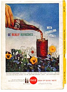 Coca Cola Ad Auc3214 April 1959 Springtime Flowers