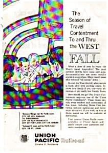 Union Pacific Railroad Ad auc324 Oct 1961 (Image1)