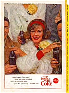 Coca Cola Football Game Ad Auc3313 Oct 1963