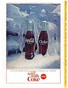 Coca Cola Bottles In Ice Ad Auc3323 July 1964