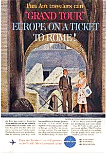 Pan Am Grand Tour Europe Ad May 1962
