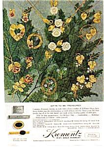 Krementz Jewelry Ad auc3334 May 1962 (Image1)