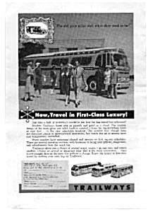 Trailways First Class Luxury Ad Nov 1957 (Image1)