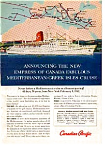 Maiden Voyage of the Empress of Canada Ad (Image1)