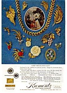 Krementz Jewelry Treasured Gift Ad May 1963 (Image1)