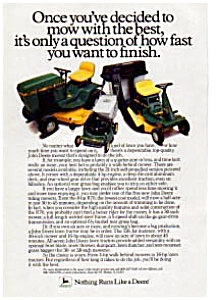 John Deere lawn Tractors Ad (Image1)