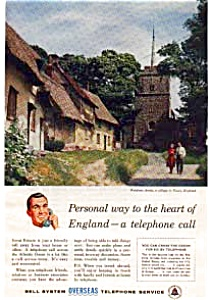 Bell Telephone Overseas Service Ad Auc337