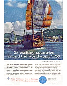 Pan Am Around The World Ad, July 1962