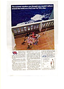 P & O Lines Summer Vacation Ad 1960 (Image1)