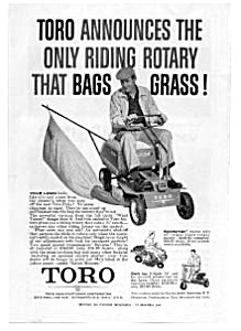 Toro Riding Rotary Lawnmower Ad (Image1)