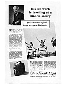 Cine Kodak Eight  Ad 1930s (Image1)