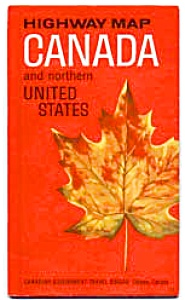 Highway Map Canada And The Northern Us 1965