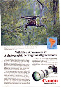 Canon F-1 Wildlife Muriqui Monkey Ad (Image1)