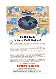 Lykes Lines World Markets Ad 1940s (Image1)