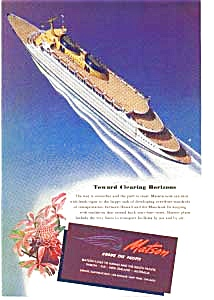 Matson Lines Ad 1940s Post WWII (Image1)