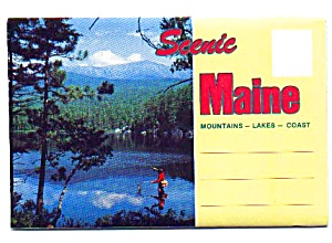Souvenir Folder Of Scenic Maine Auc355