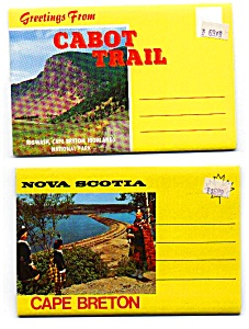 Souvenir Folders Of Cape Breton Nova Scotia Lot Auc357