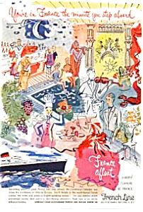 French Line Ad Liberte Flandre Ile de France Ad auc3621 (Image1)