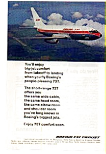 Boeing 737 Twinjet Ad Auc3706