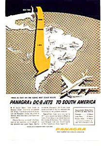 Panagra Dc-8 Jets To South America Ad Auc3713