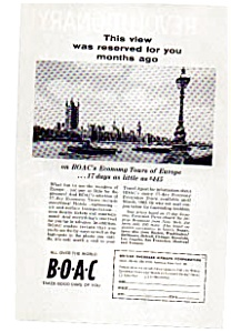 BOAC Economy Tours of Europe Ad (Image1)