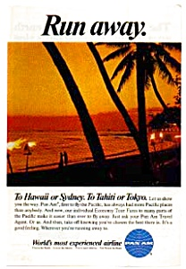 Pan Am To Hawaii Or Sydney Ad Auc3716