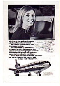 Delta Airlines Professional Reservationist Ad Auc3723