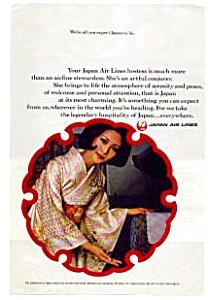 Japan Air Lines Hostess AD auc3724 (Image1)