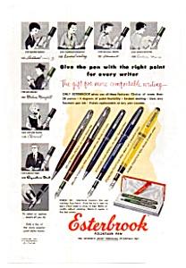 Esterbrook Fountain Pen Line Ad 1954 (Image1)