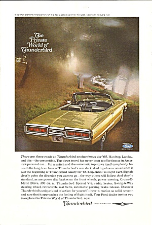 A Nostalgic Automobile Ad Lot Thunderbirds Aytop 4a