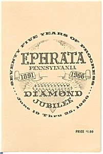 Ephrata Pennsylvania Diamond Jubilee Book